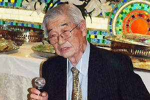 講師の(元日本合成化学(株)社長)下坂雅俊先生